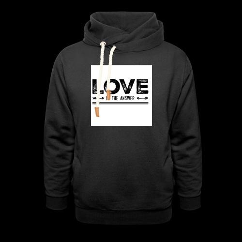 love is the answer - Sweat à capuche cache-cou