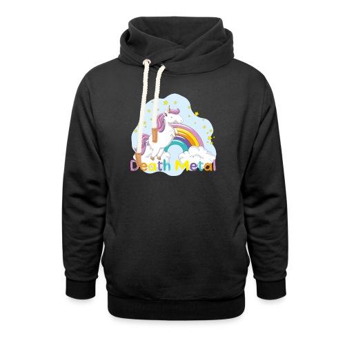 unicorn death metal - Unisex sjaalkraag hoodie