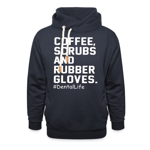 Coffee scrubs and rubber gloves - Unisex Shawl Collar Hoodie