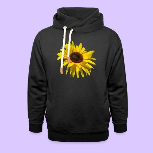 blühende Sonnenblume, Sonnenblumen, Blumen, Blüten - Unisex Schalkragen Hoodie