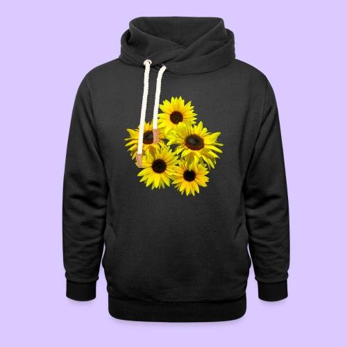 Sonnenblumenstrauss, Sonnenblume, Sonnenblumen - Unisex Schalkragen Hoodie