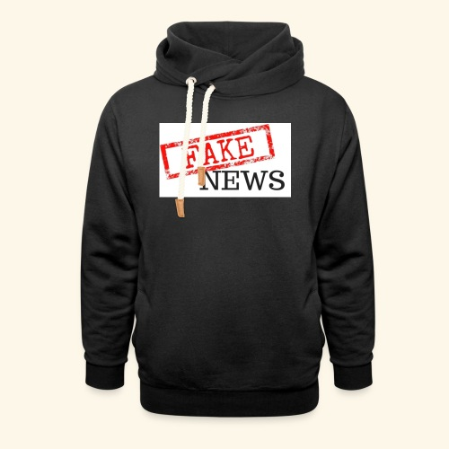 fake news - Shawl Collar Hoodie