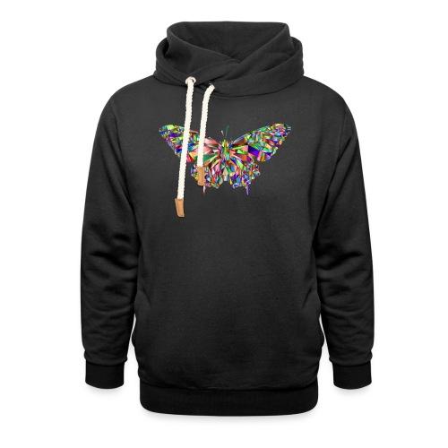 Geflogener Schmetterling - Schalkragen Hoodie