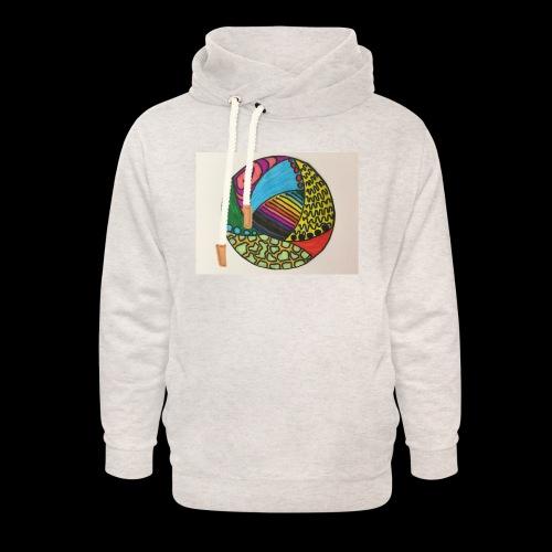 circle corlor - Unisex hoodie med sjalskrave