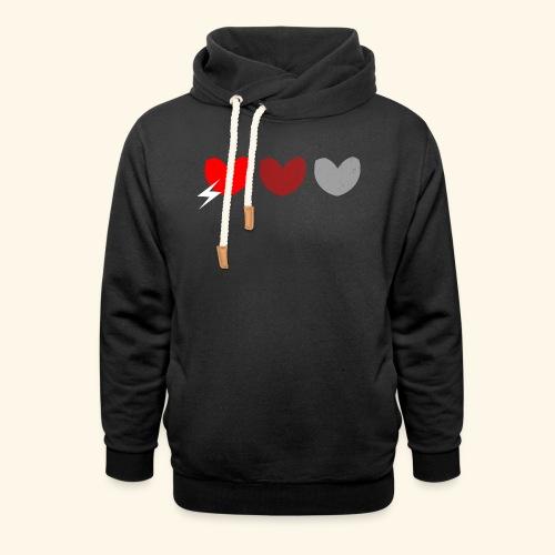 3hrts - Unisex hoodie med sjalskrave