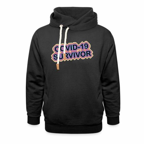covic19survivor - Unisex hoodie med sjalskrave