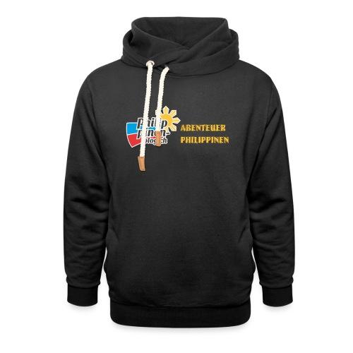 Philippinen-Blog Logo deutsch schwarz/orange - Schalkragen Hoodie