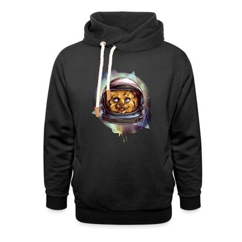 Cute astronaut kitten - Unisex Shawl Collar Hoodie