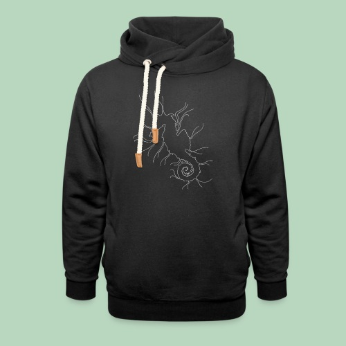Zeepaardje Seahorse - Unisex sjaalkraag hoodie