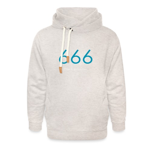 666 and 999 - Luvtröja med sjalkrage unisex