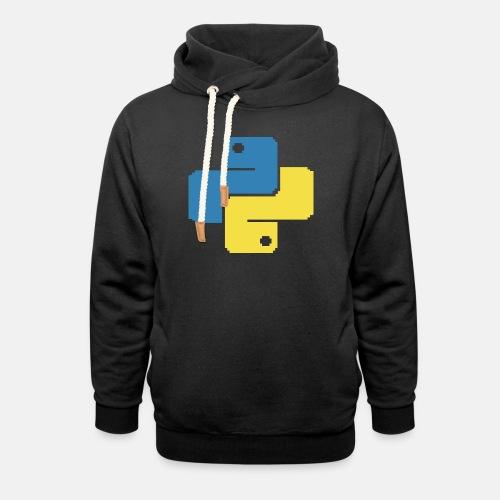 Python Pixelart - Unisex Shawl Collar Hoodie