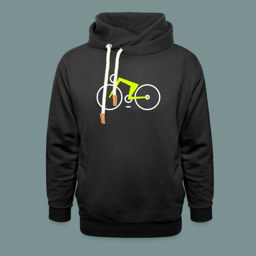 Bikes against cancer - Unisex hoodie med sjalskrave
