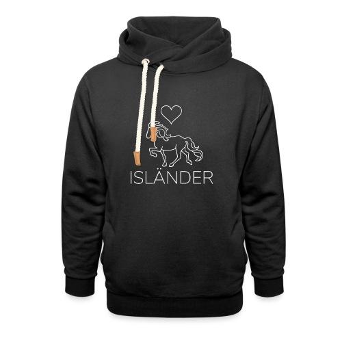 Love Isländer, weiß - Schalkragen Hoodie