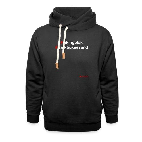 Hashtag - Hoodie med sjalskrave
