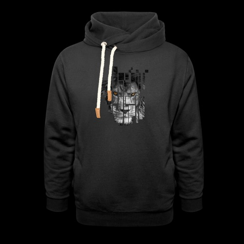 Pixel Lion Tattoo Inspire - Shawl Collar Hoodie