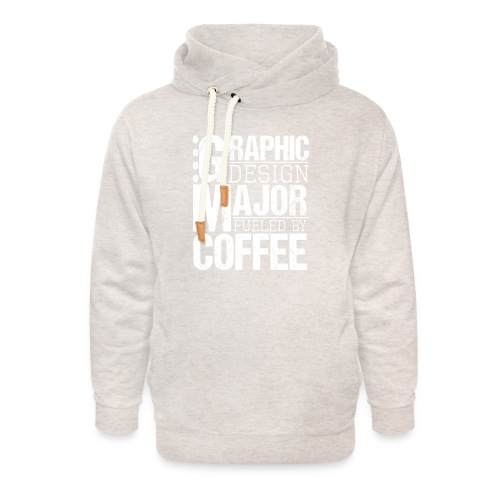 Graphic Design Major Fueled By Coffee - Unisex Schalkragen Hoodie