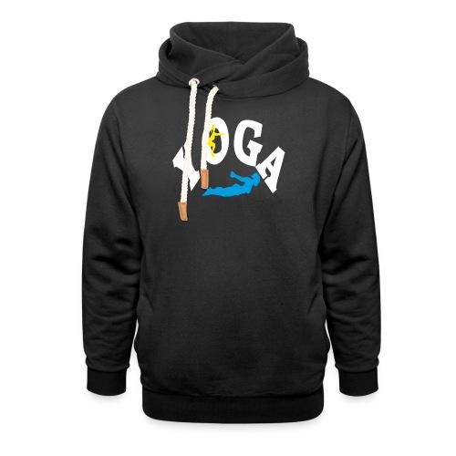 Yoga Schriftzug mit Posen Körperspannung Geschenk - Unisex Schalkragen Hoodie