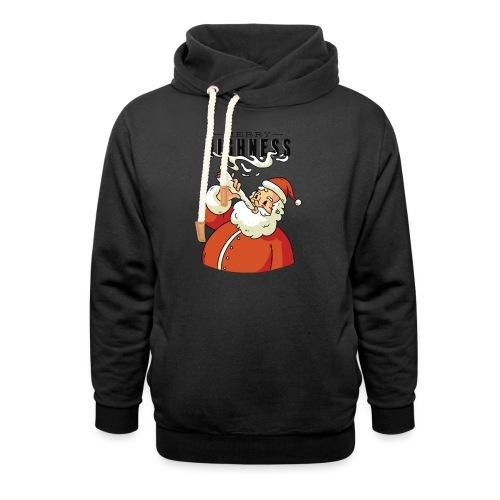 Merry Highness Weihnachtsmann Ugly Xmas - Schalkragen Hoodie