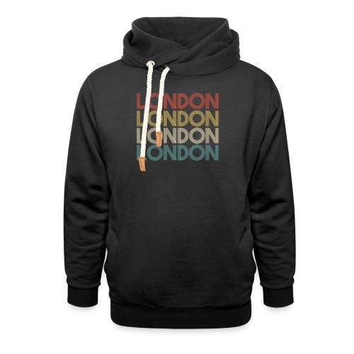 Retro London England Souvenir - Vintage London - Unisex Schalkragen Hoodie