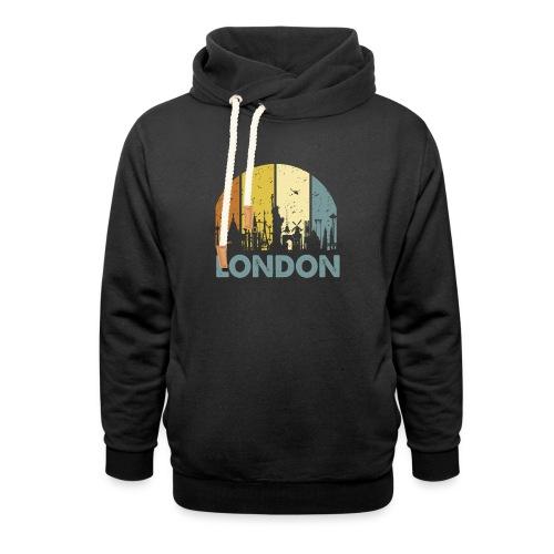 Vintage London Souvenir - Retro Skyline London - Unisex Schalkragen Hoodie