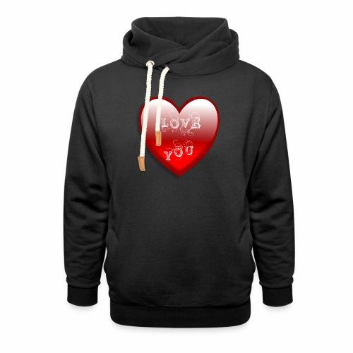 Love You - Schalkragen Hoodie