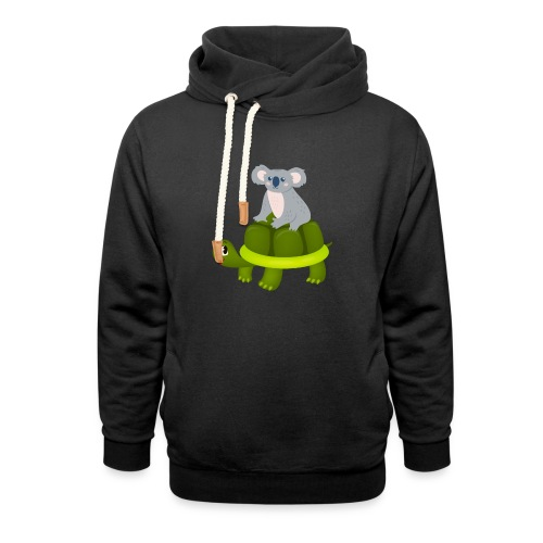 Koala Riding Turtle Gift - Unisex Schalkragen Hoodie