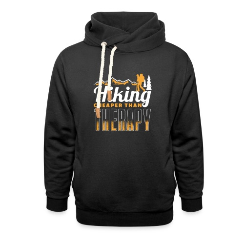 Hiking Cheaper Than Therapy - Schalkragen Hoodie