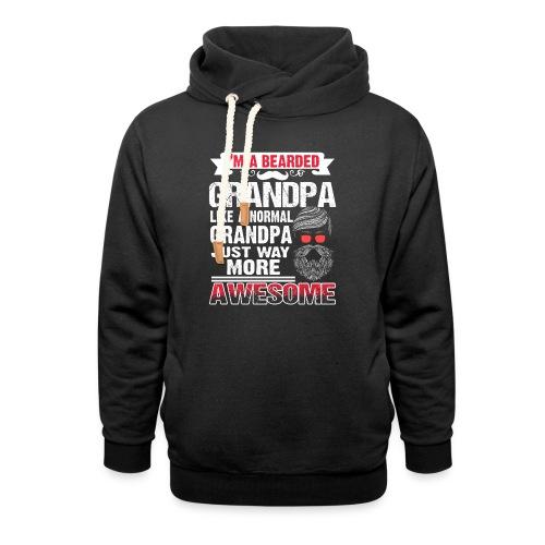 Awesome Bearded Grandpa - Unisex Schalkragen Hoodie