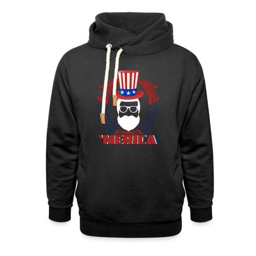 AMerica Beard - Unisex Schalkragen Hoodie