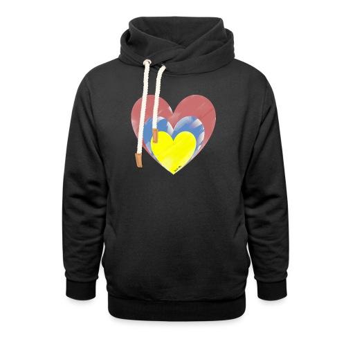 LOVE - Sudadera con capucha y cuello alto unisex