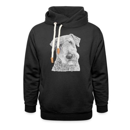 airedale terrier - Hoodie med sjalskrave