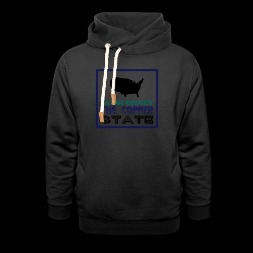 WISCONSIN THE COPPER STAT - Shawl Collar Hoodie