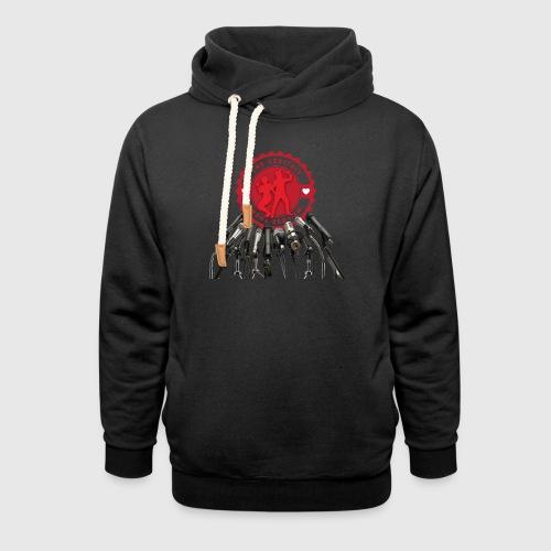 THEGENITALS - Unisex hoodie med sjalskrave