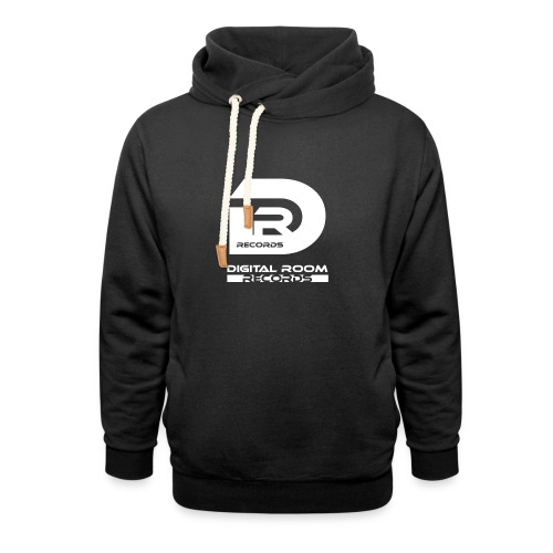 Digital Room Records Official Logo white - Unisex Shawl Collar Hoodie