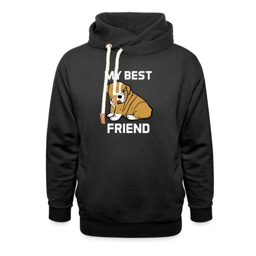 My Best Friend - Hundewelpen Spruch - Unisex Schalkragen Hoodie