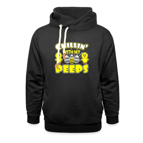 Chilling With My Peeps - Funny Easter Day - Unisex Schalkragen Hoodie