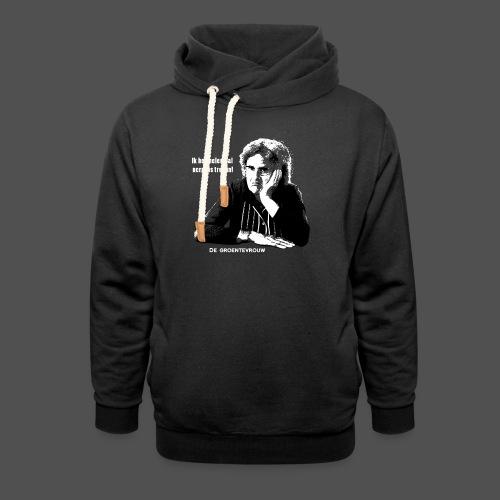 Ik heb helemaal nergens trek in! (v) - Unisex sjaalkraag hoodie