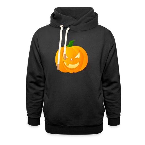 Kürbis Halloween Scary - Schalkragen Hoodie