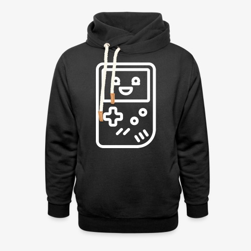 Smiling game console (white) - Shawl Collar Hoodie