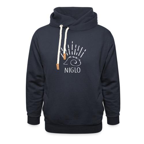 niglo king gris hérisson - Sweat à capuche cache-cou unisexe
