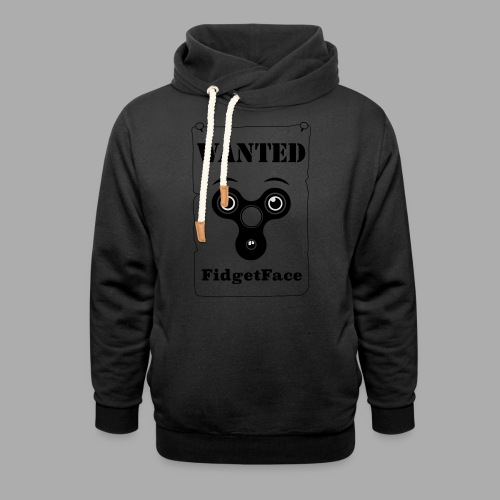 Fidget Spinner Face Wanted - Shawl Collar Hoodie