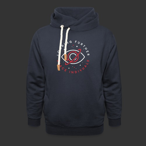 Space Individuals - Looking Farther Black - Shawl Collar Hoodie