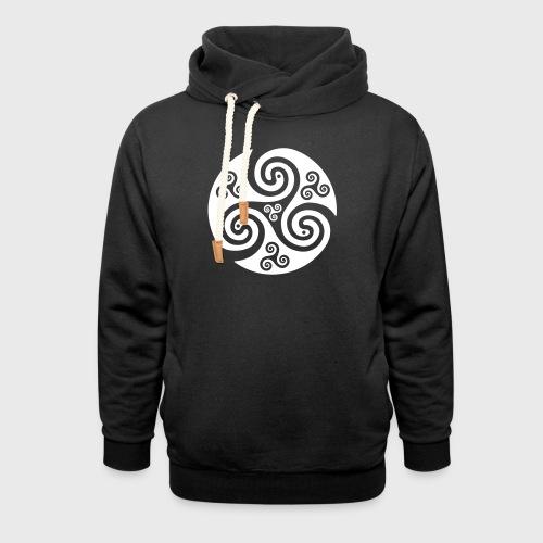 Triskel celtique - Sweat à capuche cache-cou