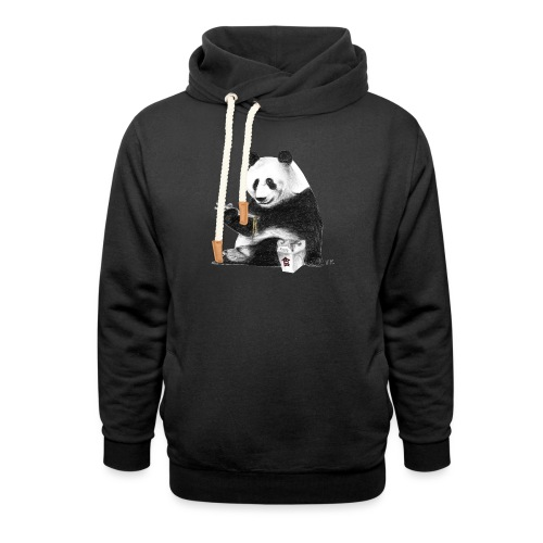Panda Eating Noodles - Shawl Collar Hoodie