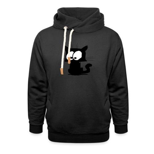 Black Cat 01 - Sweat à capuche cache-cou