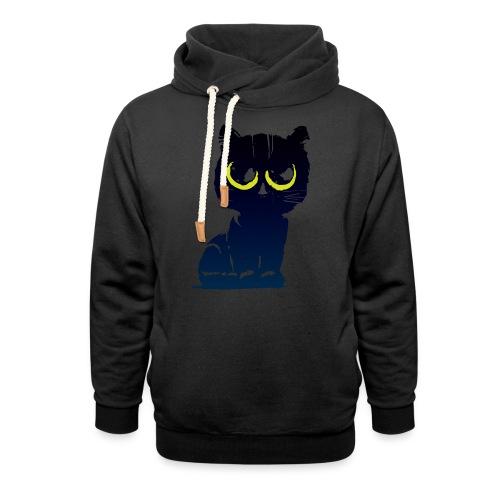 Black Cat 2 - Sweat à capuche cache-cou