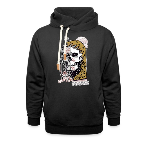 skull - Felpa con colletto alto