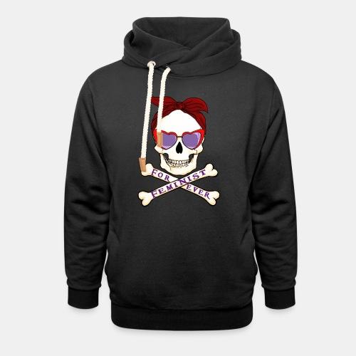 Feminist skull - Sudadera con capucha y cuello alto