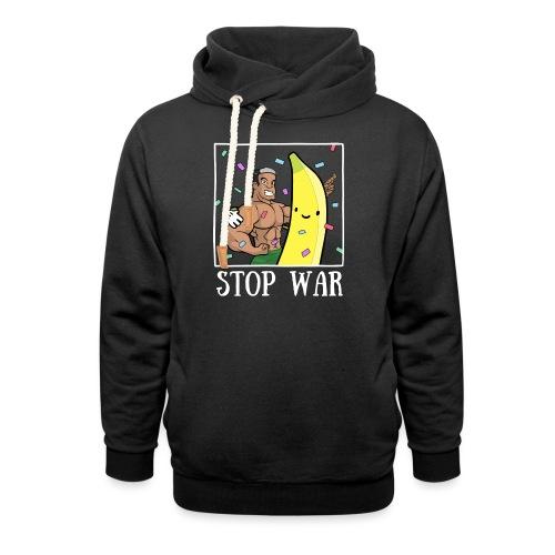 Stop War Banane Musculation - Sweat à capuche cache-cou