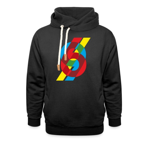 colorful numbers - Shawl Collar Hoodie